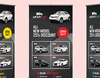 Rent a Car Roll Up banner