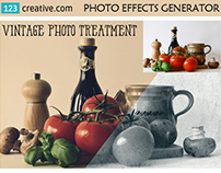 Vintage photo effects - Vintage generator in Photoshop