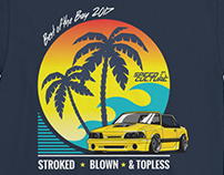 Retro Car Show Event T-shirt.
