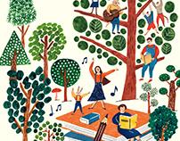 illustrations for 초록우산어린이재단