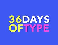 #36daysoftype on Instagram.