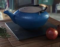 TEA POT 3D CGI STILL