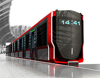 An unmanned subway train