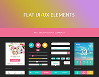 Flat ui/ux elements