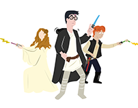 Harry Potter / Star Wars Mash Up (Work in Progress)