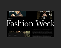 Fashion Week Article Webpage