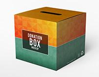 Donation Box Mock-up