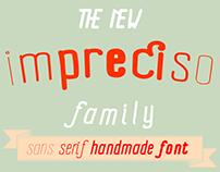 Impreciso sans serif handmade font