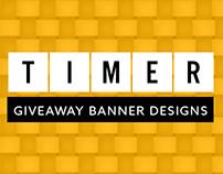 Timer Giveaway | Banner Designs