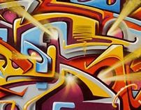 """3 Murals at """"La Traille"""", Geneva, CH"""