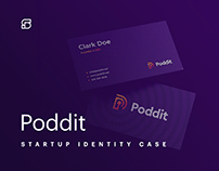 Poddit - branding for podcast platform