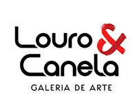 Redesign da logo LOURO & CANELA Galeria de Arte
