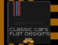 Classic Cars Flat designs