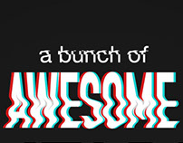 A bunch of Awesome Editable text effects