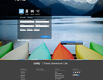 Home Page Concept For Travel Company