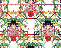 Floral Geometry Repeat Textile Patterns