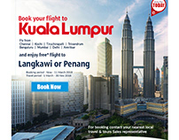 Promotional flyer for Travel company