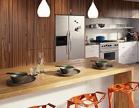 orange hero - kitchen visualisation