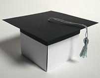 Exploding box unique gift for a graduation