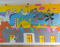 Brighton Cityscape Mural