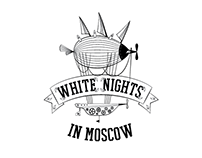White Nights in Moscow. Event design identity