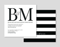 bénédicte & michaël / wedding invitations