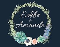 E+A Wedding Print Media Designs
