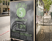 Kappa Pi - High 5 Event Poster