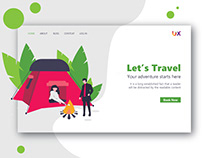 Landing page design tour and travel