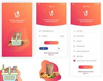 Grocery app design Login screen Grocery Shopping App
