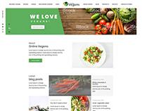 Vegan Landing page