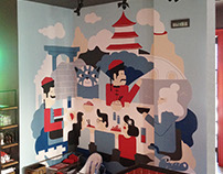 wallpainting for Chinese News restaurant