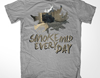 Smoke Mid T-Shirt Design