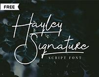 FREE | Hayley Signature Font