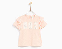 ZARA KIDS - Baby Girl flowers patches