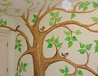 Сказочное дерево с птицами