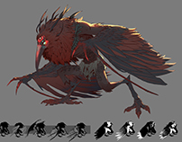 The Red Crow- Creature Design
