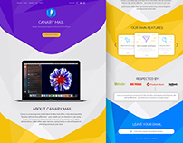 Daily UI #003 - Canary Landing Page concept