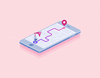 Illustration for Navigation App