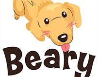 Beary logo & illustration design for online pet shop