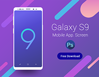 Galaxy S9 Mobile App screen layout download Free