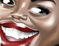 Lupita Nyongo Caricature art