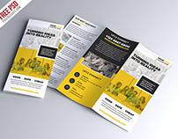 Free PSD : Multipurpose Tri-fold Brochure PSD Template