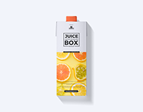 Free Juice Carton Box Mockup