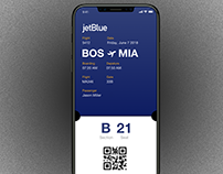 Jet Blue - Boarding Pass Concept - iPhone X