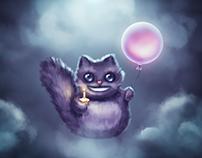 Birthday greeting card Cheshire Cat
