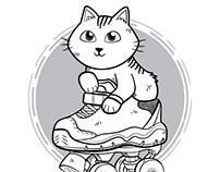 Cat Roller Rink Shirt Design