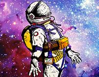 Astronaut T-shirt Model