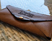 Engraved Leather Envelope Free Mockup