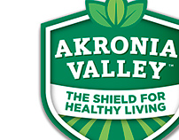 Akronia Valley, Logo Design & Bottle Label Wrap